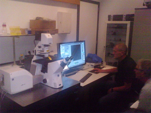 Official training session for the confocal microscope Zeiss LSM700