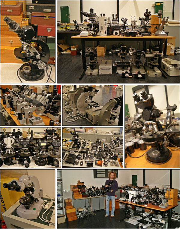 Sorting out the old microscopes