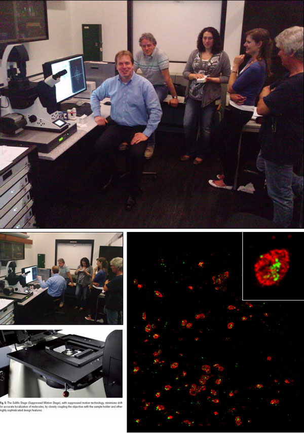 Testing of the super-resolution microscope Leica SR GSD